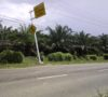 Tiang RPA Miring Bahayakan Pengguna Jalan