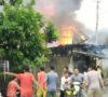 Tujuh Rumah Hangus Terbakar