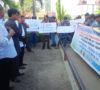 Puluhan Pewarta Bersama LSM Gelar Aksi Damai