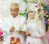 Pernikahan Andre dan Feni Berlangsung Meriah
