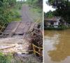 Jembatan Ambruk, 12 Rumah Terendam Banjir