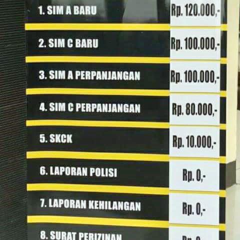 Beredar Info Tarif Pelayanan Polisi, Ini Kata Kapolres