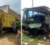 Bus ALS Hantam Dum Truk, 3 Orang Tewas