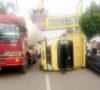 Truk Diesel Terbalik, 1 Jam Terjadi Kemacetan