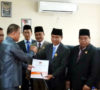 KPU MUBA Serahkan Hasil Pleno ke DPRD Muba