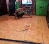 Warga Kepur Heboh, Lantai Keramik Rumah Samsu Mendadak Terangkat dan Pecah