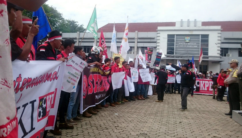 Peringati May Day, Buruh di Muaraenim Sampaikan Aspirasi