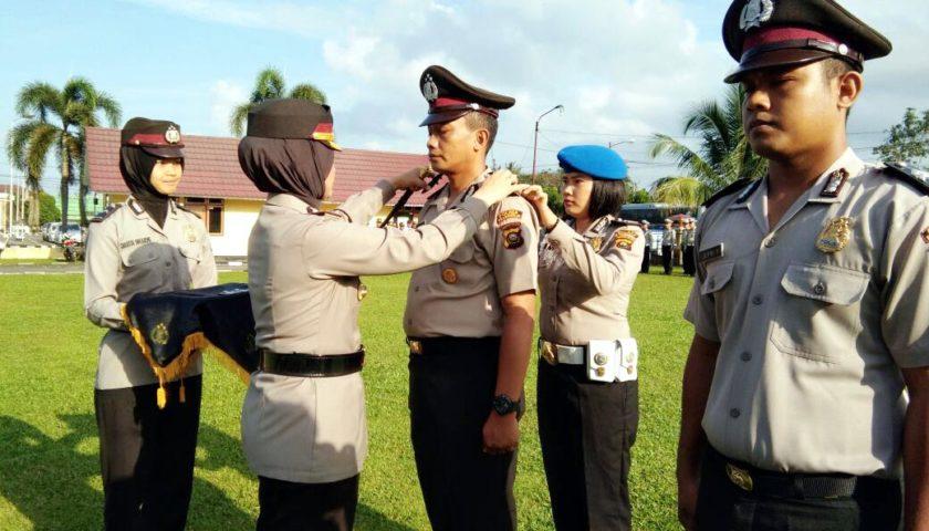 7 Anggota Polres Naik Pangkat