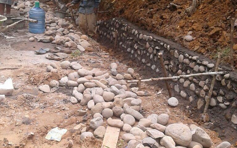Infrastruktur Desa di Kecamatan Sungai Keruh Mulai Dibangun