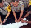 Polisi Pelatihan Memandikan dan Mengkafani Jenazah