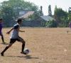 Bapak-bapak di Lawang Kidul Ikut Sepakbola Gembira