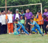 Kadispora Muba dan Camat Sanga Desa Buka Turnamen Gala Desa