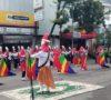 Drumband MTs N 3 Lahat Meriahkan Karnaval Kerukunan Umat Beragama