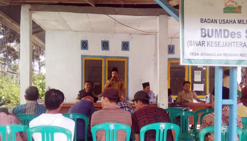 Desa Jeranglah Rendah Gelar Musyawarah Prapelaksana Pembangunan