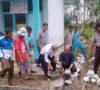 Desa Tanjung Menang Pasang Pagar Gedung PAUD