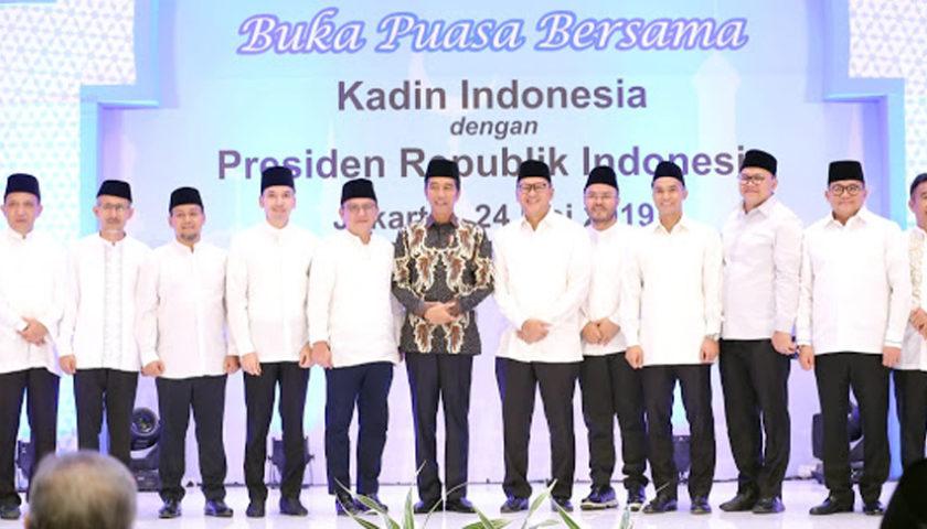 Buka Bersama Kadin, Dodi Reza Alex Ucapkan Selamat Ke Presiden Jokowi