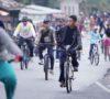 Diguyur Hujan, Ribuan Pesepeda Tetap Ikut Gowes Nusantara