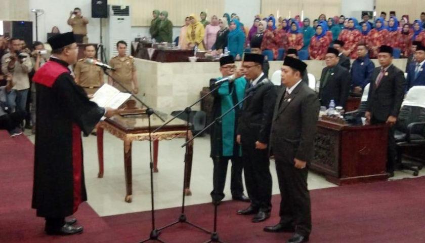 Ketua dan Wakil Ketua DPRD Lahat Resmi Dilantik