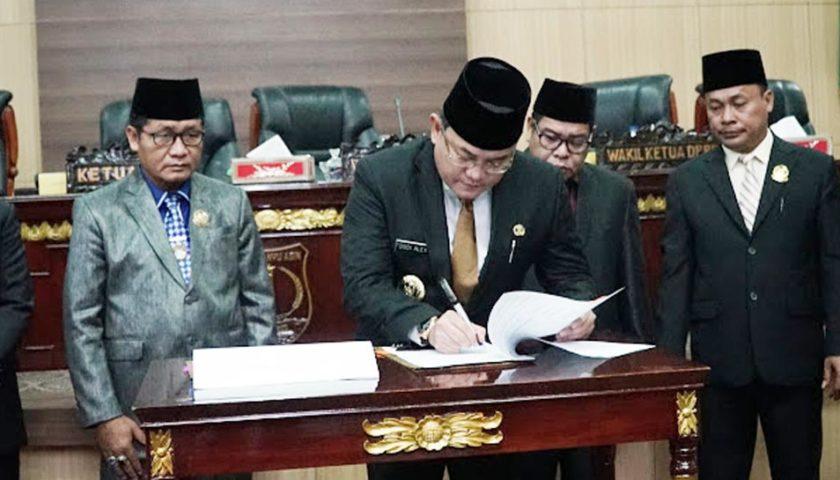 DPRD dan Bupati Muba Setujui Raperda Perubahan APBD Tahun 2019