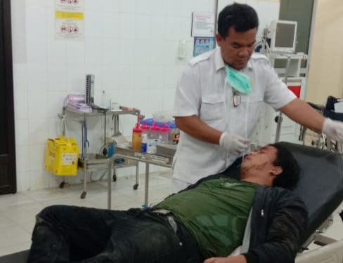 Faisal Ambri Korban OTK Dijalan Latsitarda Depan Sekolah MAN Asahan