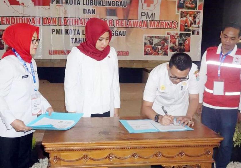 PMI Kota Lubuklinggau Gelar Diklat Relawan Markas, MoU dengan Pimpinan Rumah Sakit