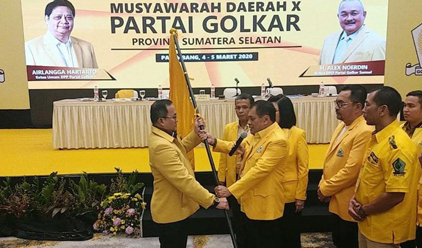 Dodi Reza Terpilih Ketua DPD Golkar Sumsel