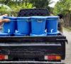 Pemdes dan BPD Padang Manis Bagikan Penampung Air