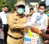Ditengah Pandemi Covid-19, BRI Cabang Lahat Bagikan 100 Paket Sembako