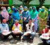 Peringati Hari Kartini, PC NU Kabupaten Lahat Bagikan Sembako dan Nasi Bungkus