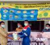 SKK Migas-PHE Jambi Merang Bagikan Masker, Hand Sanitizer, Disinfektan dan Alat Penyemprot