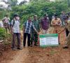 Pemdes Jeranglah Tinggi Lakukan Pembangunan Jalan Mutar Alam