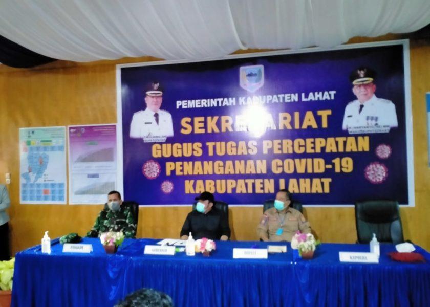 Herman Deru Nilai Penanganan Covid-19 Kabupaten Lahat Baik