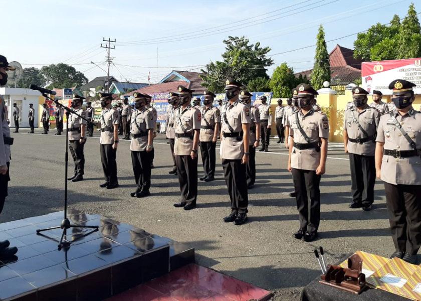 Kapolres Serah Terima Jabatan Perwira Polres Lahat