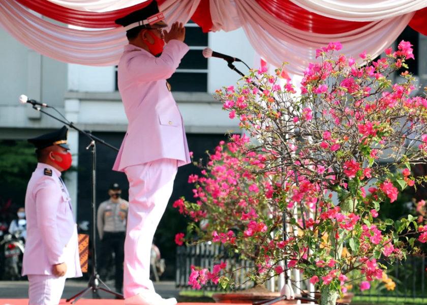 Plt Bupati Muaraenim Juarsah Pimpin Upacara HUT RI ke 75 Tahun