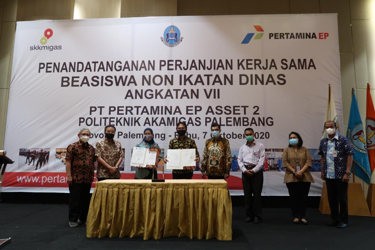 Penandatanganan Perjanjian Kerja Sama antara PT Pertamina EP Asset 2 dengan Politeknik Akamigas Palembang.