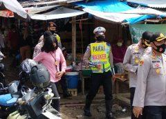 Polres Prabumulih sosialisasi pakai masker di Pasar Inpres.