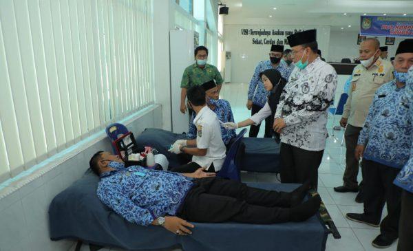 Peringati HUT Ke-49 Korpri, Kabupaten Asahan gelar Donor Darah