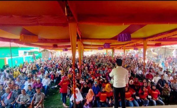Masyarakat Rawas Ilir saat menghadiri kampanye.