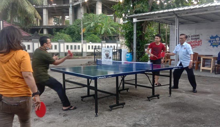 PWI Sumsel Gelar Turnamen Tenis Meja, Prokes Diterapkan