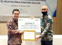 Pemkab Lahat terima penghargaan IWP, JKK, dan JKM.