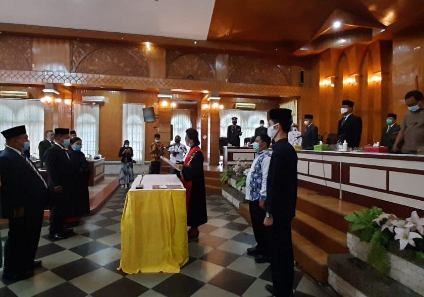 Ketua DPRD Pimpin Rapat Sumpah Jabatan PAW DPRD Kabupaten Asahan