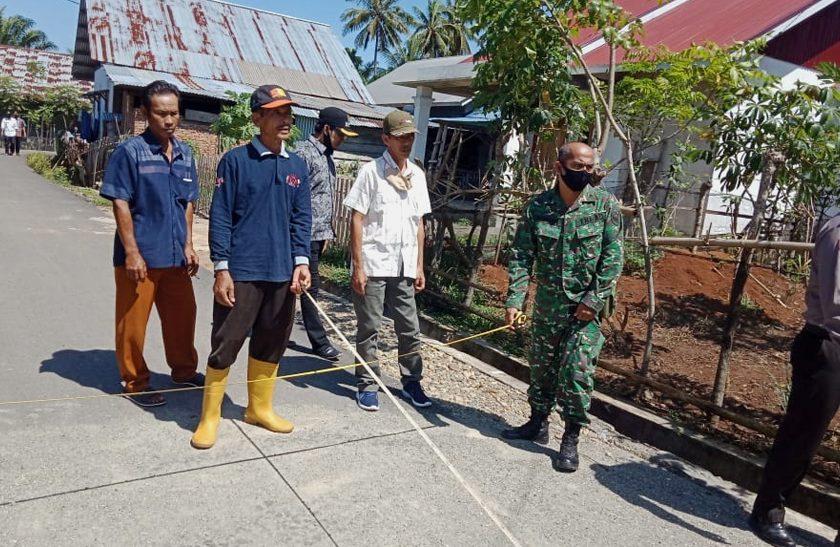 TPK Desa Tanjung Raman Serahkan Kegiatan Pembangunan Jalan
