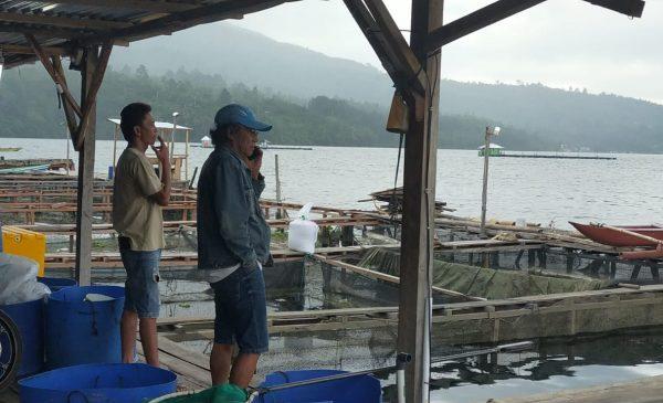 Warga Budidayakan Ikan Menggunakan Kerambah Apung di Danau Ranau