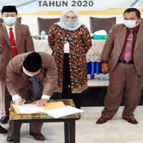 DPRD Bengkulu Selatan Terima Hasil Rapat Pleno KPU