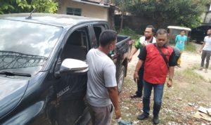 Mobil yang kena pecah kawanan pencuri.