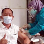 Anggota DPRD Pagaralam suntik vaksin.
