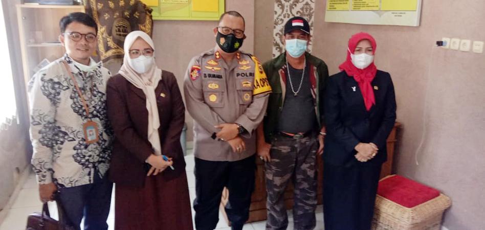 Ketua DPRD Pagaralam saat pose bersama dengan Kapolres.