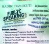 Gelar Lomba Publik Speaking Tingkat Mahasiswa