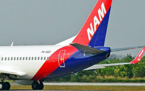 Ilustrasi pesawat Nam Air
