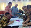 Bupati Muaraenim Tanda Tangan Peta Wilayah Perbatasan Pemekaran Kabupaten Gelumbang
